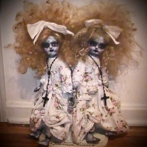 OOAK Haunted Oddity  Siamese Twin Art Dolls